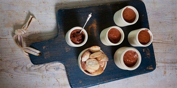 Try this Chocolate mousse with madeleines recipe by Chef James Martin. This recipe is from the show James Martin's French Adventure.