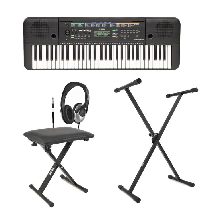 Yamaha PSR-E253 Portable Keyboard with  Stand, Bench and Headphones