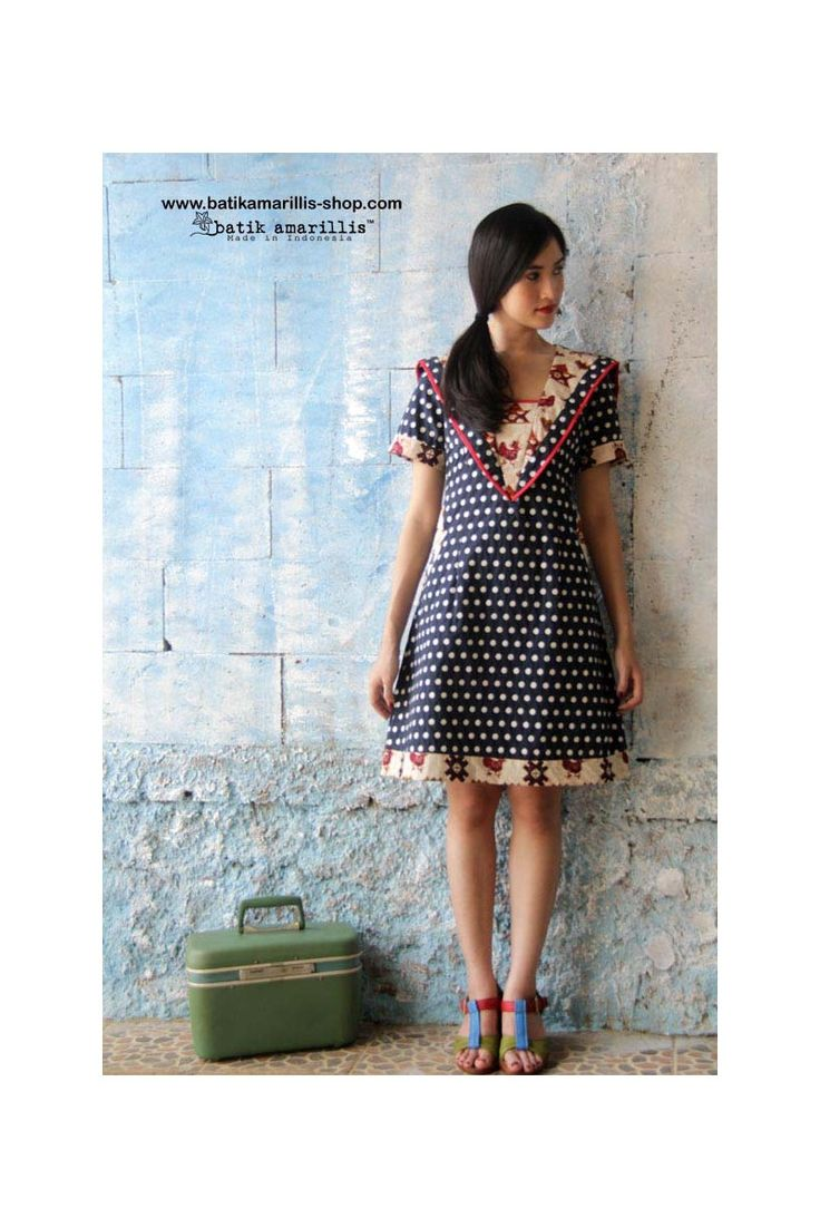 batik amarillis's hey sailor dress