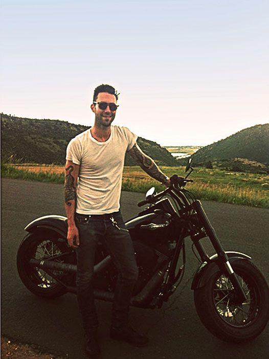 #AdamLevine and his Harley