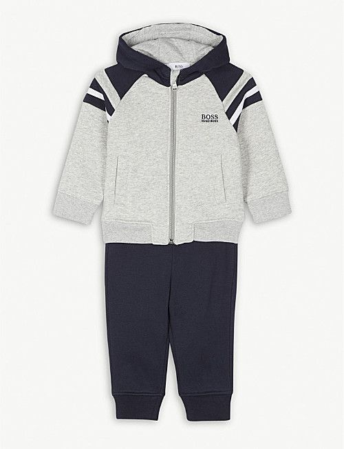 f891cc499ee3 BOSS Hooded cotton-blend tracksuit 6-36 months