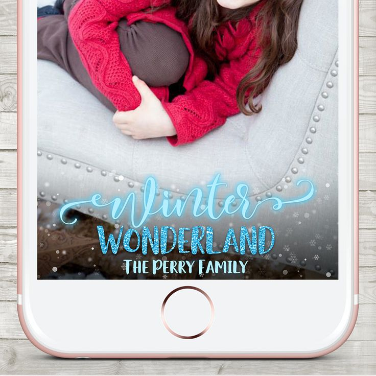 Winter Wonderland Snapchat filter, Snapchat Geofilter Christmas, Holiday Snapchat Geofilter, Winter Birthday Snapchat filter, snap chat by LMNDesignStudio on Etsy