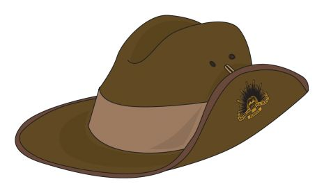 anzac day hat clipart
