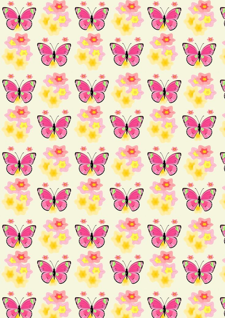 FREE printable butterfly pattern paper