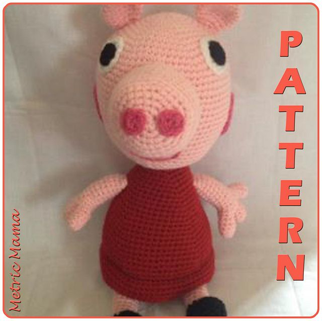 This pattern was inspired by the TV show Peppa Pig. Any fan of the show, big or small, will love this toy to snuggle.