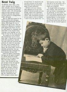William James Sidis, el hombre más inteligente y triste del mundo.