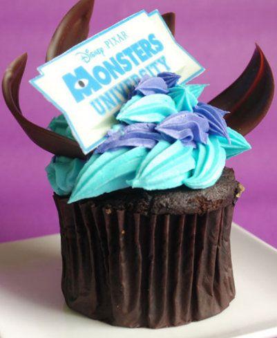 Monsters University cupcakes for Disney's Monstrous Summer!!