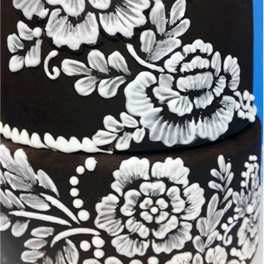 Brush Embroidery Flower Stencil Set by Designer Stencils Cookie Stencils
