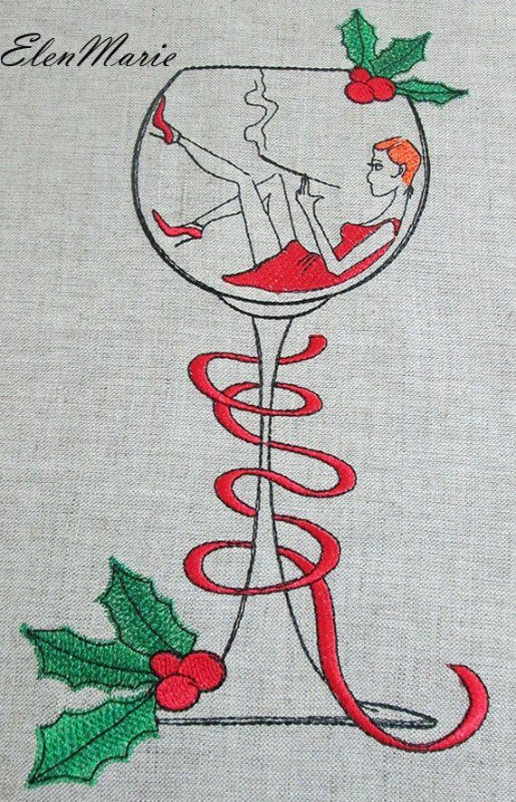 Merry Christmas Happy New Year Machine Embroidery Design Etsy In 2020 Machine Embroidery Machine Embroidery Designs Christmas Designs