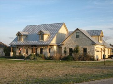 Texas Farm - traditional - exterior - austin - Texas Home Plans