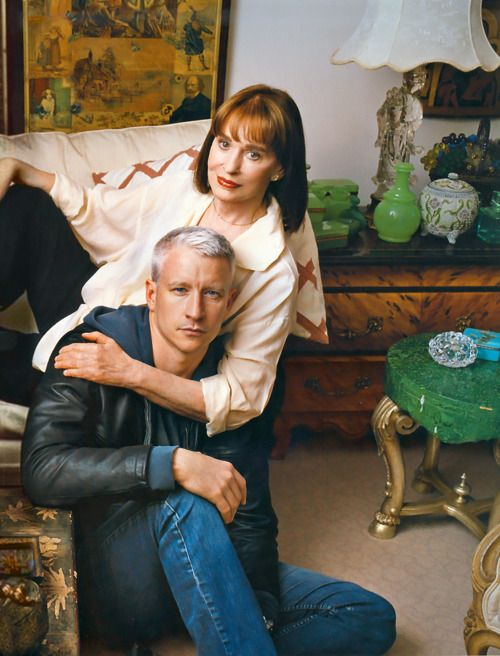 Gloria Vanderbilt with her son, Anderson Cooper. Wow! I had no idea that he was her son!!