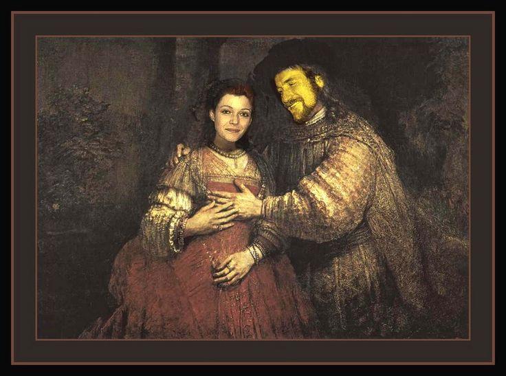 Rembrandt van Rijn Zidovska nevesta Lada