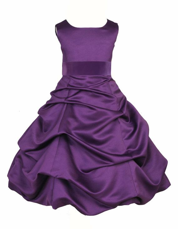 This would be good in red, black and white dresses...would go with my wedding dress!! Purple Flower Girl Dress tie sash pageant by ekidsbridalusa