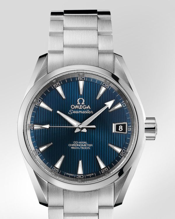 OMEGA Watches: Seamaster Aqua Terra 150 M Omega Co-Axial 38.5 mm - Steel on steel - 231.10.39.21.03.001
