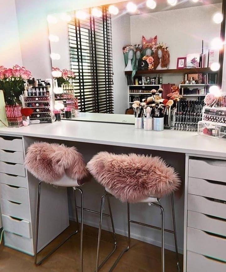 Vanity Mirror With Desk And Lightscosmetic Mirror With