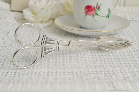 Fork shaped serving tongs vintage Swedish by GrannyHannasCottage
