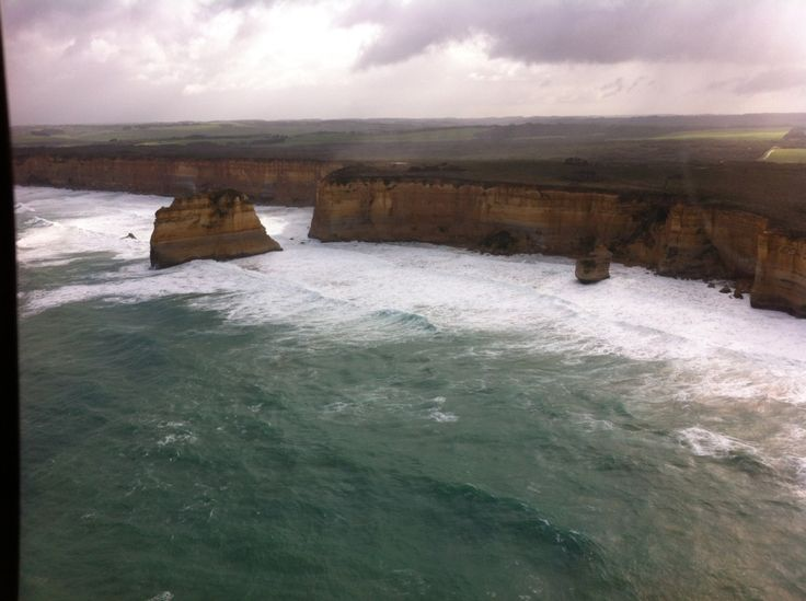 Beautiful view from the Helicopter tour of the 12 Apostles