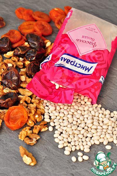 Постные конфеты из белой фасоли и сухофруктов ингредиенты