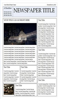 Wonderful Free Templates to Create Newspapers for your Class ~ Educational Technology and Mobile Learning