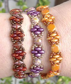 Silky Stacker free pattern at AroundTheBeadingTable.com ~ Beading Jewelry…