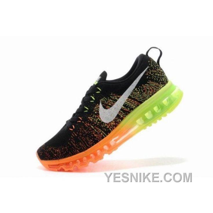 bbefa29611c6 ... low cost soldes site officiel nike air max flyknit chaussures pour  homme noir orange jaune france