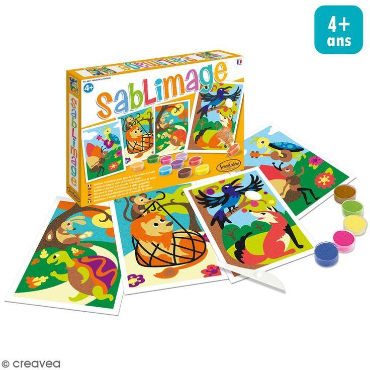 Compra nuestros productos a precios mini Kit Sablimage - Fábulas de la Fontaine - 4 cuadros - Entrega rápida, gratuita a partir de 89 € !