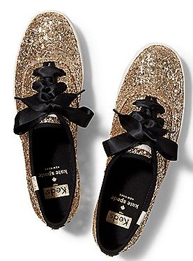 Gold glittered keds for kate spade http://rstyle.me/ad/mi95enyg6