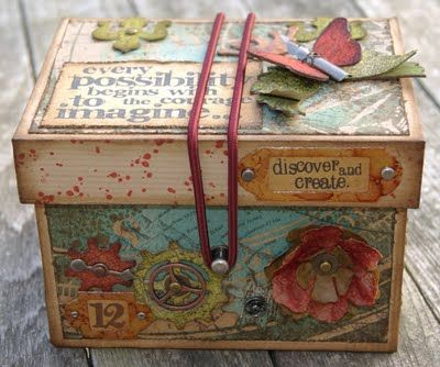Such a cute box for scrap storage-Tim Holtz