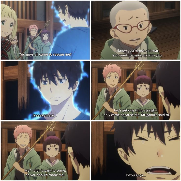 You guys all came to rescue me? - Season 2, episode 7, #Ao no Exorcist #Blue Exorcist