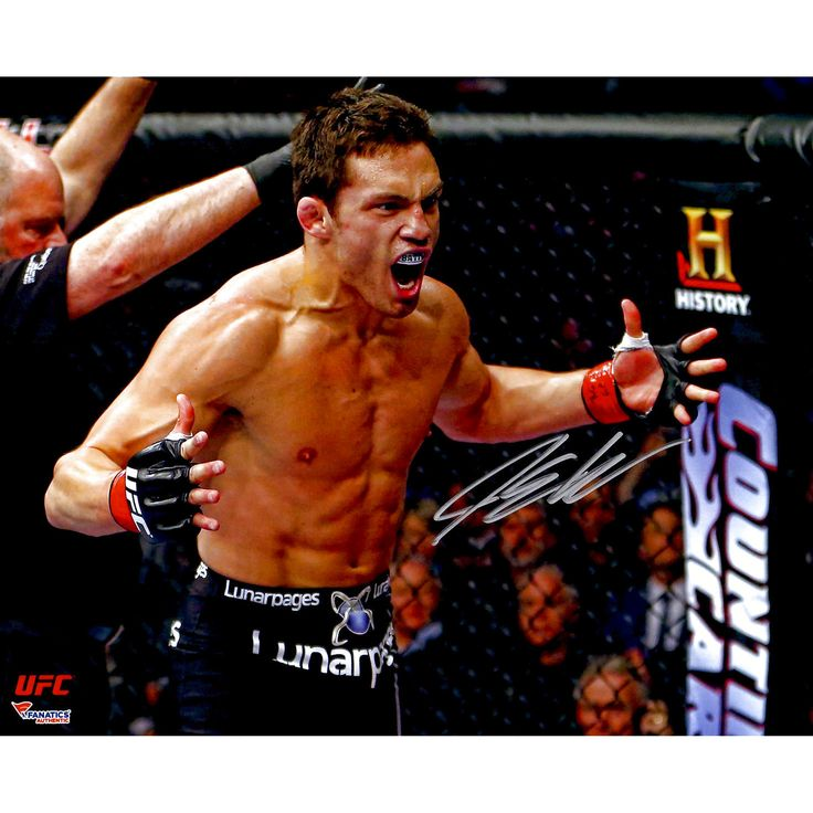 """Jake Ellenberger Ultimate Fighting Championship Fanatics Authentic Autographed 8"""" x 10"""" Arms Out Yelling Photograph - $23.99"""