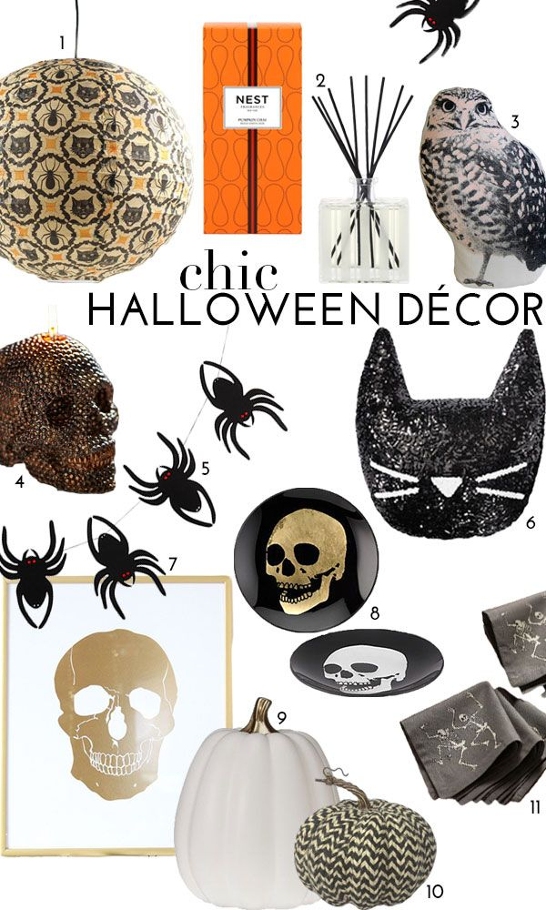 @theglitterguide featured our Morton Skull Appetizer Plates as part of their chic Halloween decor feature.