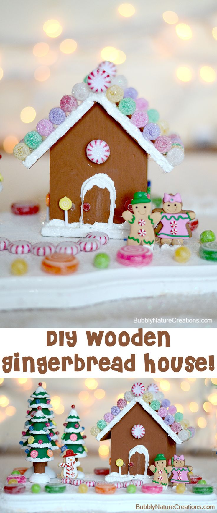 Diy Wooden Gingerbread House Gingerbread Houses Candy