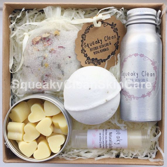 Bath Gift Set Pampering Gift Set Gifts for by SqueakyCleanSkinCare