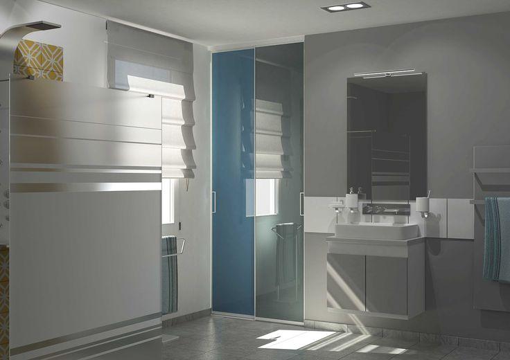 portes de placard coulissantes pour votre salle de bains. | portes ... - Porte De Placard Salle De Bain
