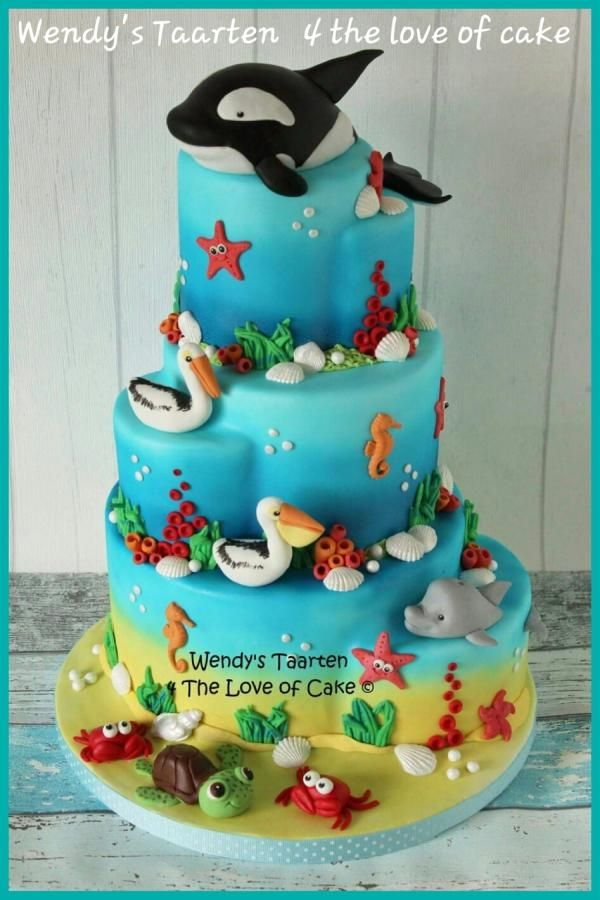 ocean cake - Cake by Wendy Schlagwein