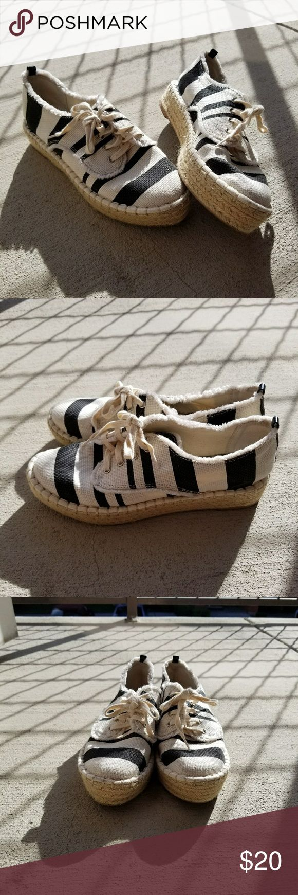 Black and White Canvas Sneakers Black and White Canvas Sneakers With platform  Espadrilles DV by Dolce Vita Shoes Espadrilles