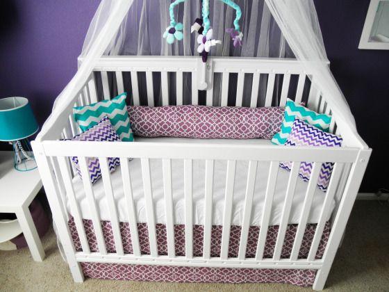 Our purple & teal nursery