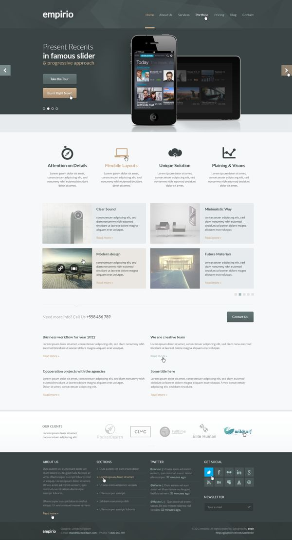 empirio PSD Template by entiri , via Behance