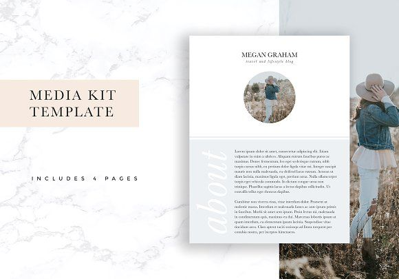 Media Kit Template  This clean, professional media kit template is perfect for bloggers! @creativework247