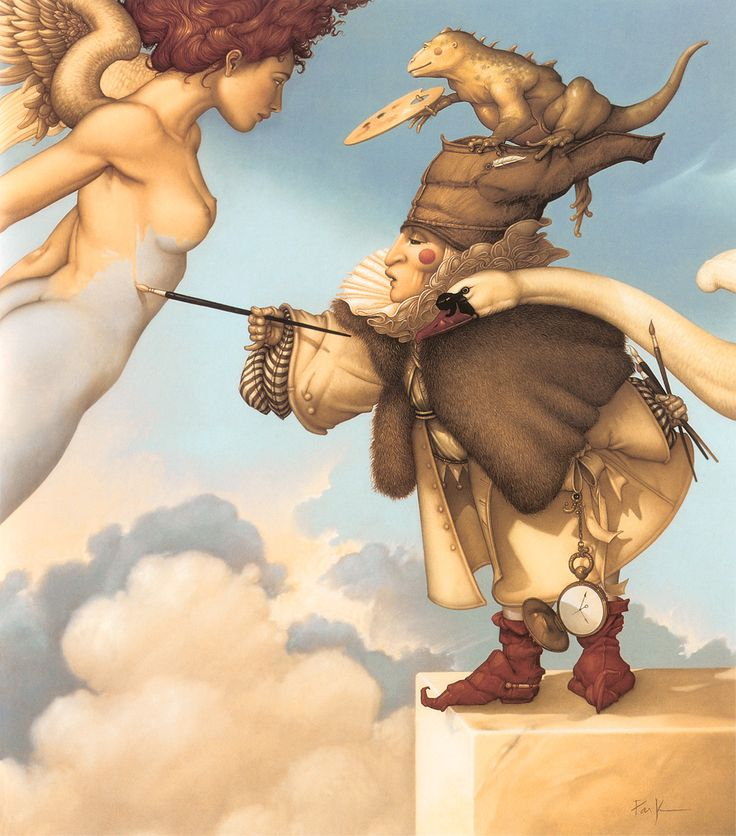 Michael Parkes - Page 2 F1ba2fc67f4cc29e775505fcf6e5ebb4--angel-paintings-art-paintings
