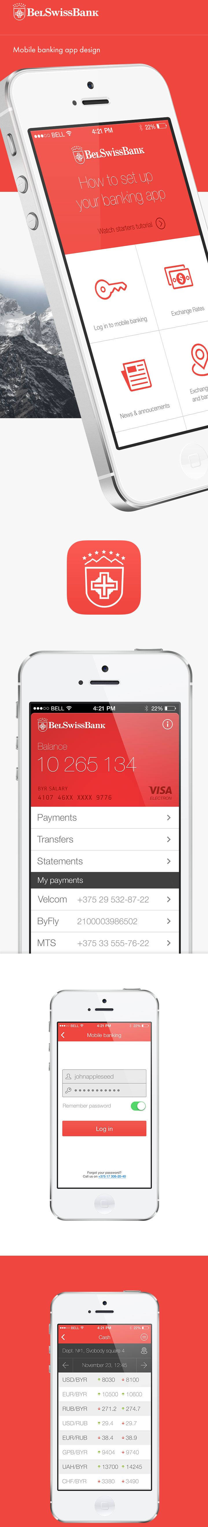 Mobile banking app design #mobile #ui #webdesign #layout #design