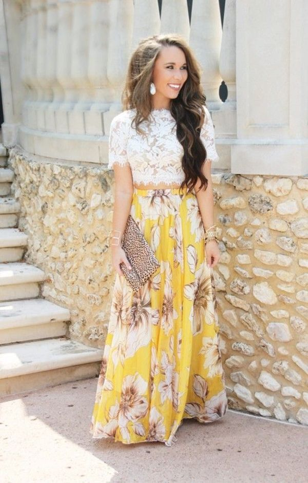 What Type of Tops to Wear with Long Skirts