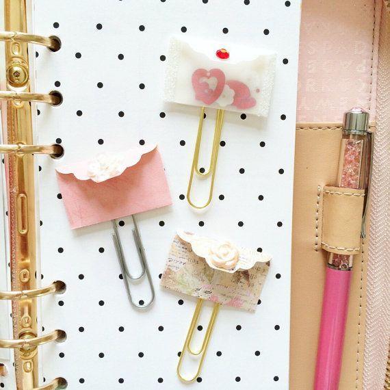 Valentines Day Gifts : Valentines day Planner clip, planner accessories, planner…
