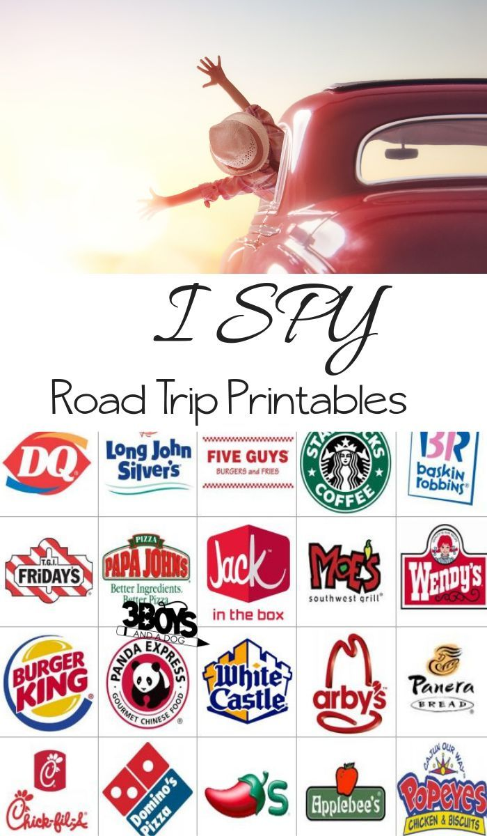 Road Trip Printables For Kids Restaurant I Spy Road Trip