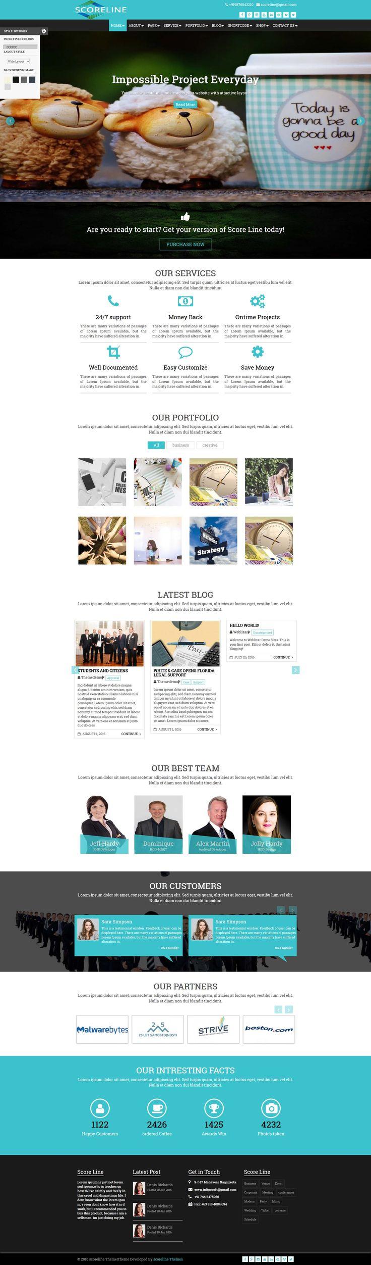Scoreline Premium WordPress Theme