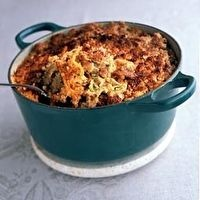 Zucchini and Sausage Casserole by Nathalie Dupree's Comfortable Entertaining, submitted by Nathalie Dupree