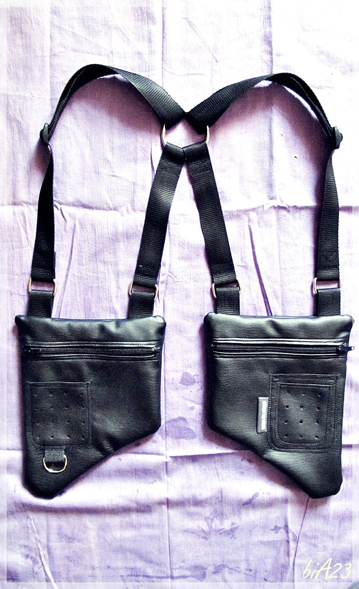 So cool! HOLSTER bAg//VEGAN BLACK leather. €49.00, via Etsy.