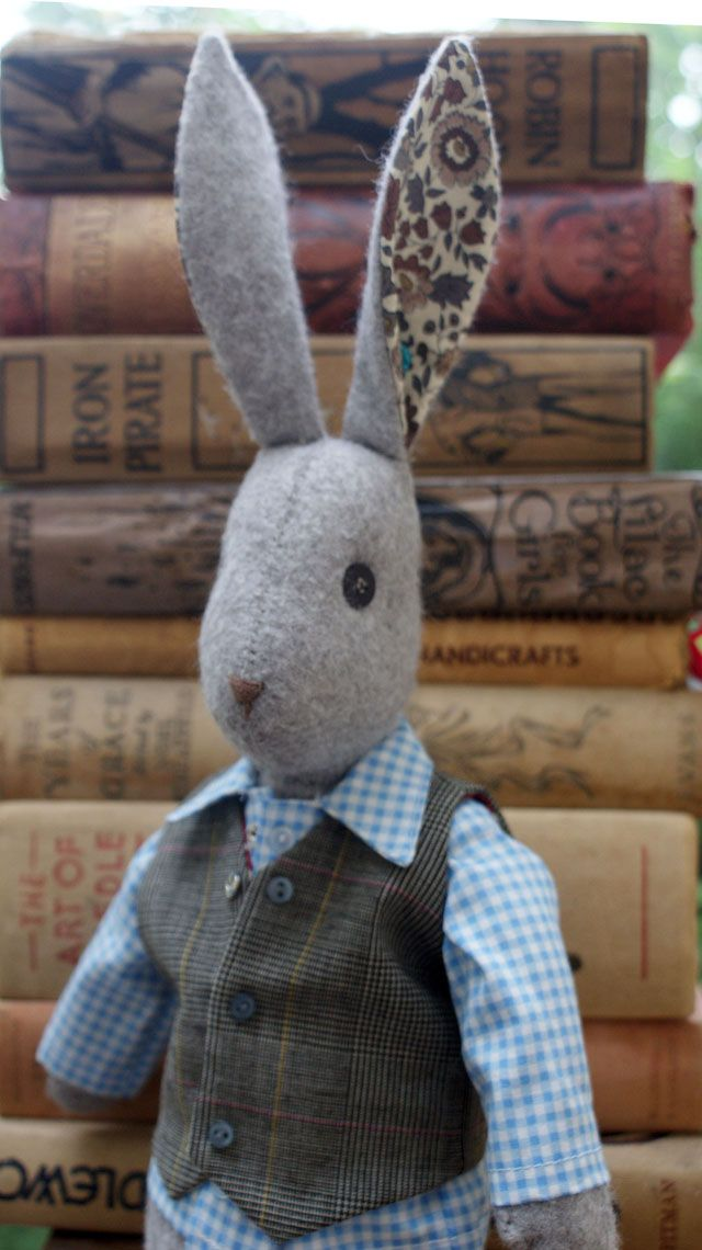 "Learn to make Alfie, a quiet and kind rabbit, with impeccable taste in clothing. The kit contains everything to make our charming 16"" rabbity-hare."