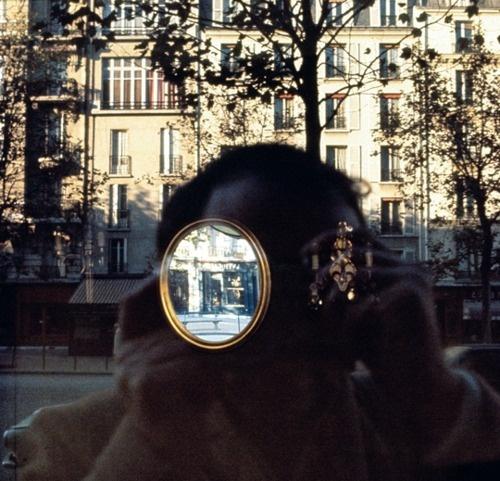 Self Portrait by Luigi Ghirri, Paris, 1976.