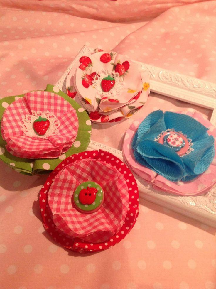 Girls Hair clips/pin strawberries